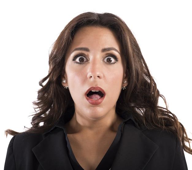 놀란 된 표정으로 사업가의 초상화