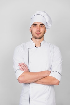 Portrait of chef with arms crossed
