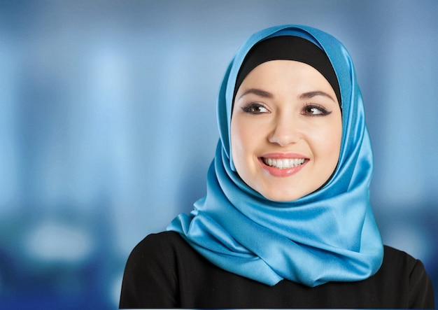 Портрет уверенности мусульманской женщины