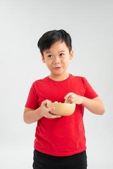 Портрет милого азиатского школьника
