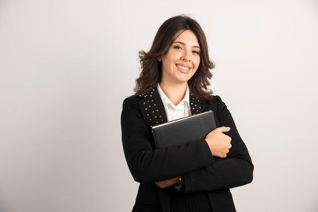 Портрет учительницы на белом.