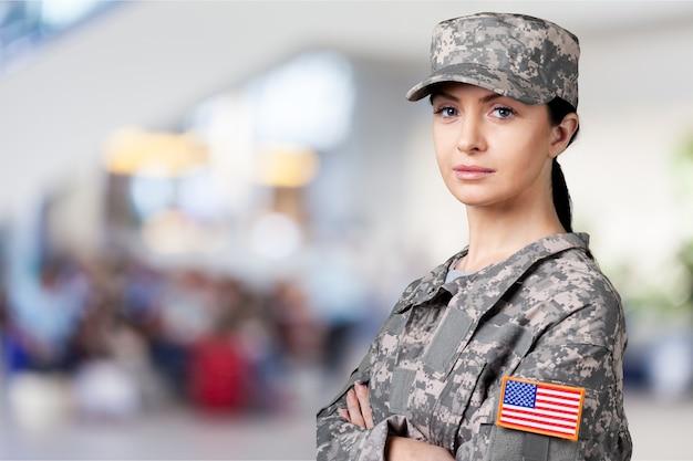 여성 미 육군 군인의 초상화