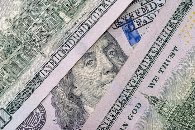 ドル紙幣のフランクリンのクローズアップの肖像画