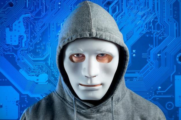 마스크와 해커의 초상화