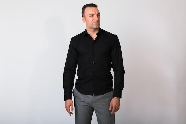 Портрет красивый бизнесмен мышления