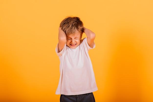 행복 한 어린 소년의 초상화
