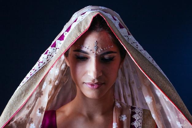 インドの女性の肖像画