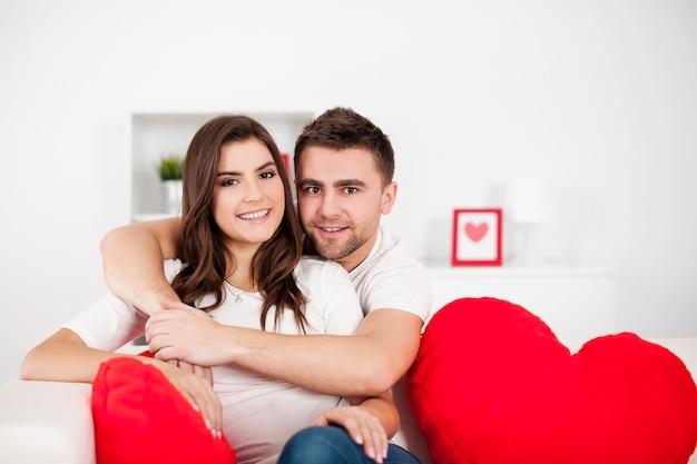 愛するカップルの肖像画