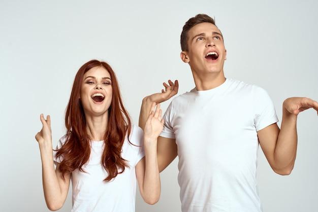 Портрет мужчины и женщины счастливы