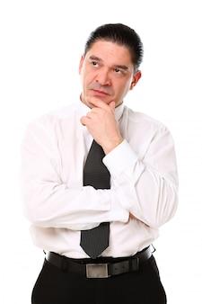 中年のビジネスマンの肖像画