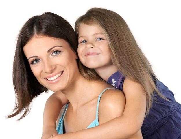 그녀의 뒤에 어린 딸과 함께 어머니의 초상화