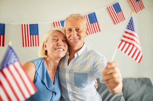 シニアアメリカンカップルの肖像画
