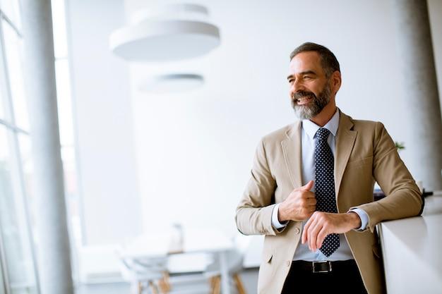 Портрет старшего бизнесмена в офисе