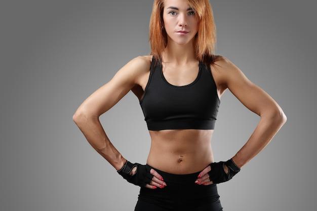 スポーツ女性の肖像画