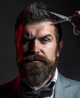 スタイリッシュなひげの男の肖像画