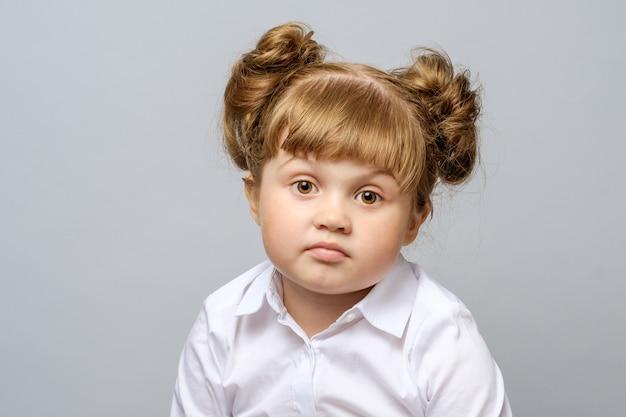 Портрет несчастной маленькой девочки