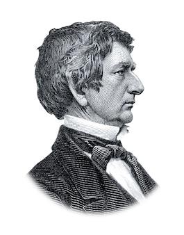 Портрет уильяма генри сьюарда, изолированные на белом фоне
