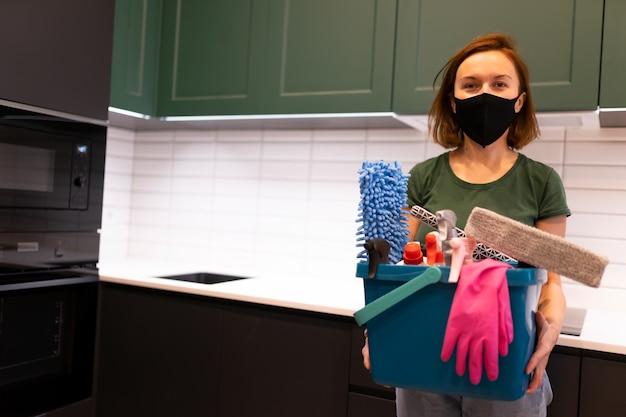 작업자 청소 회사의 초상화