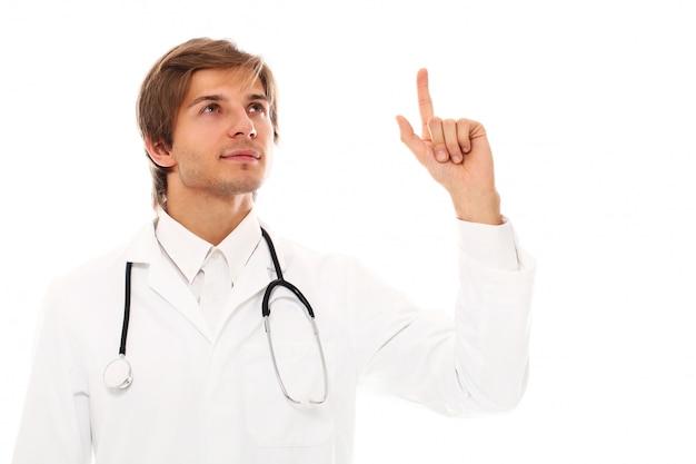若い医者の男の肖像