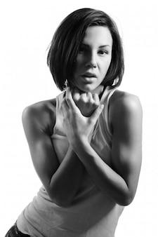若いセクシーな女性の肖像画
