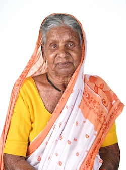 Portrait of an old woman, senior indian woman