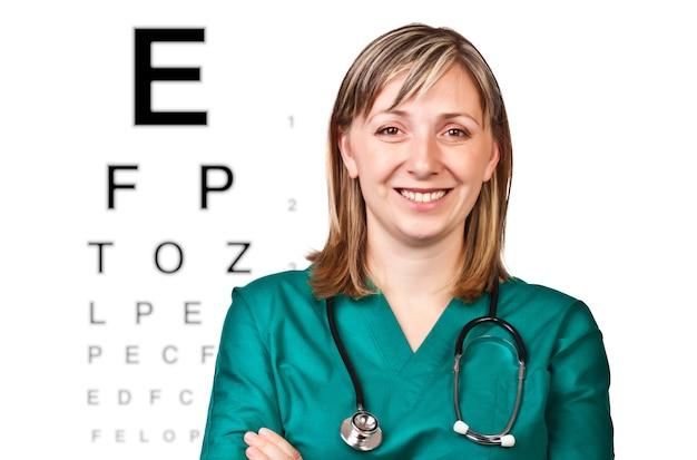 Portrait of optometrist