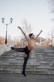 Portrait professional ballet dancer
