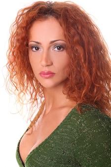Portrait of redhead woman