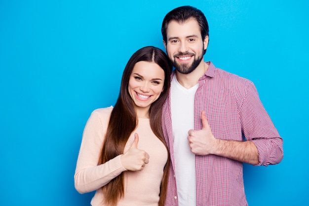 Portrait of romantic couple posing together