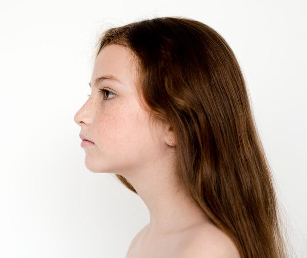 Portrait of a self-esteem girl