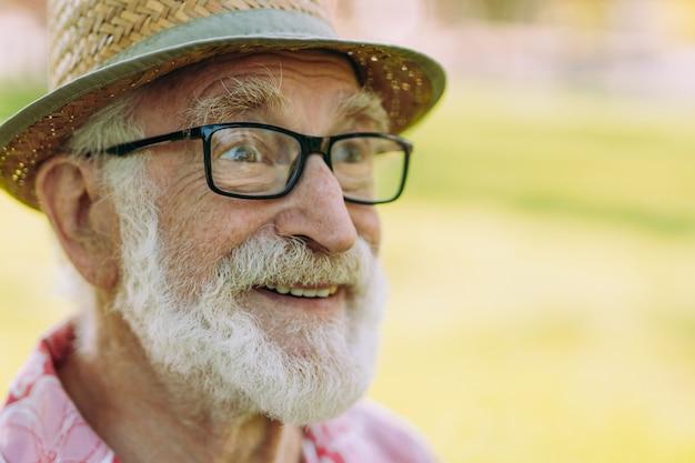 Portrait of senior caucasian man