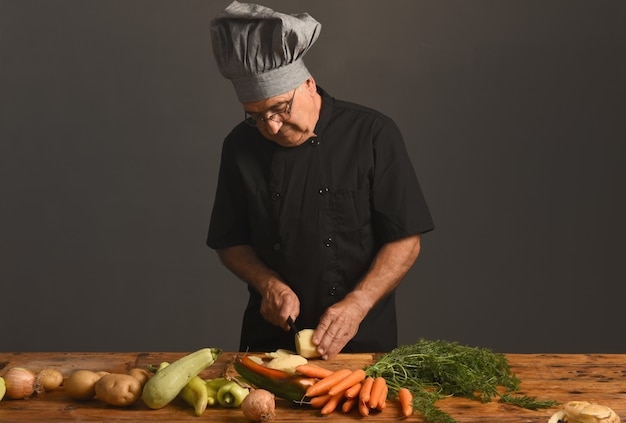 Portrait of a senior chef