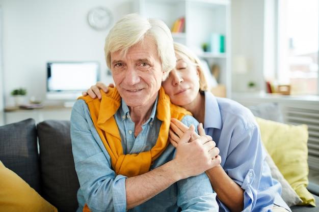 Portrait of senior couple in love