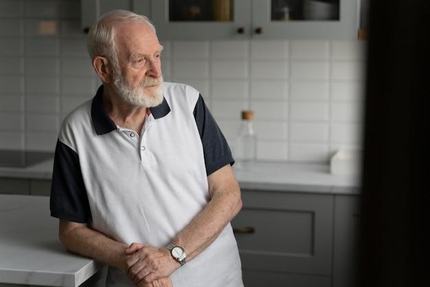 Portrait of senior man with alzeihmer