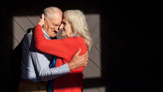Portrait of senior man and woman in love