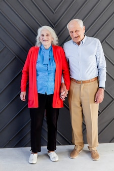 Portrait of senior man and woman together