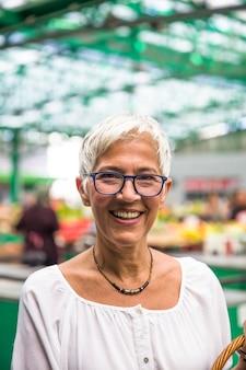 Portrait of senior smling woman