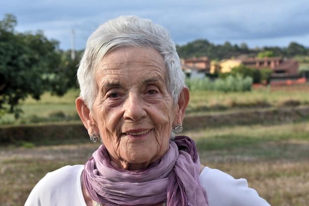 Portrait of a senior woman outdoor