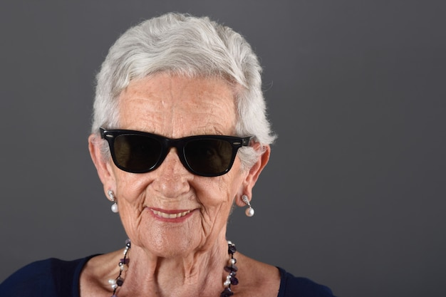 Portrait of a senior woman wilth sunglasses