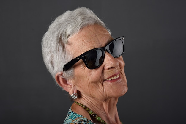 Portrait of a senior  woman with glasses