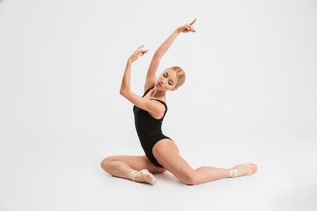 Portrait of a sensual young ballerina dancer