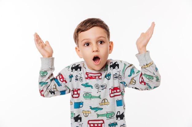 Portrait of a shocked little kid