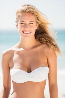 Portrait of smiling blonde woman