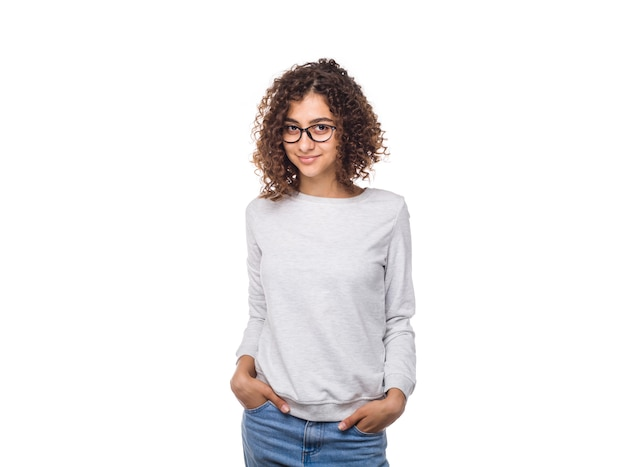 Portrait of a smiling indian young woman in a jumper