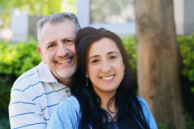 Portrait of smiling middle-aged couple