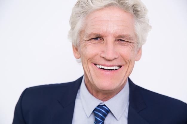 Portrait of smiling senior caucasian businessman