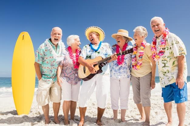 Portrait of smiling senior friends