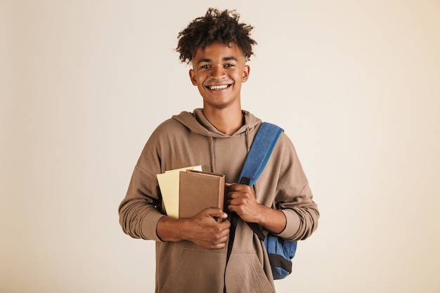 Portrait of a smiling young afro american man