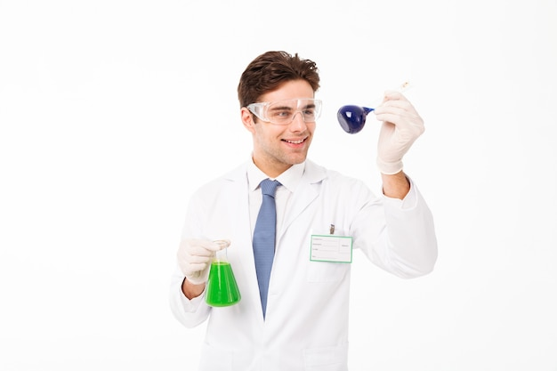 Portrait of a smiling young male scientist