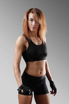 Portrait of sporty woman